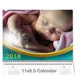 Jane 2018 Calendar with Class and LARGE NUMBERS - Wall Calendar 11  x 8.5  (12-Months)