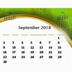 Jane 2018 Calendar With Class And Large Numbers By Deborah   Wall Calendar 11  X 8 5  (12 Months)   R6kx9dnzu452   Www Artscow Com Sep 2018