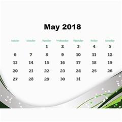 Jane Silver Flash 2018 Calendar  Large Numbers By Deborah   Wall Calendar 11  X 8 5  (12 Months)   263opuzchrch   Www Artscow Com May 2018