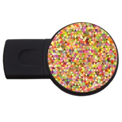 Multicolored Mixcolor Geometric Pattern Usb Flash Drive Round (4 Gb) by paulaoliveiradesign