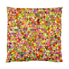 Multicolored Mixcolor Geometric Pattern Standard Cushion Case (two Sides) by paulaoliveiradesign