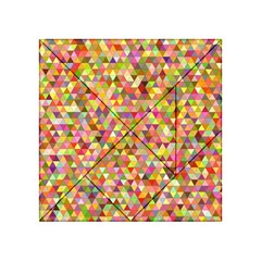 Multicolored Mixcolor Geometric Pattern Acrylic Tangram Puzzle (4  X 4 )