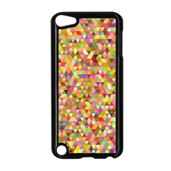 Multicolored Mixcolor Geometric Pattern Apple Ipod Touch 5 Case (black) by paulaoliveiradesign