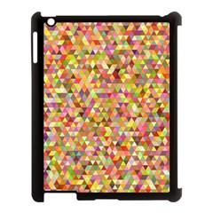 Multicolored Mixcolor Geometric Pattern Apple Ipad 3/4 Case (black) by paulaoliveiradesign