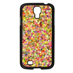 Multicolored Mixcolor Geometric Pattern Samsung Galaxy S4 I9500/ I9505 Case (black) by paulaoliveiradesign