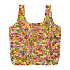 Multicolored Mixcolor Geometric Pattern Full Print Recycle Bags (l)  by paulaoliveiradesign