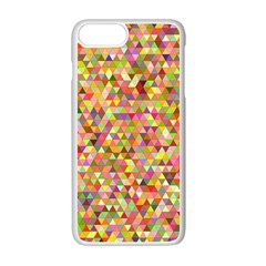 Multicolored Mixcolor Geometric Pattern Apple Iphone 7 Plus White Seamless Case by paulaoliveiradesign