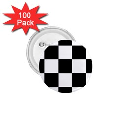 Grid Domino Bank And Black 1 75  Buttons (100 Pack)