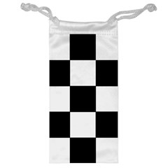 Grid Domino Bank And Black Jewelry Bag