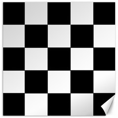 Grid Domino Bank And Black Canvas 16  X 16