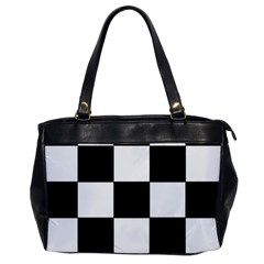 Grid Domino Bank And Black Office Handbags