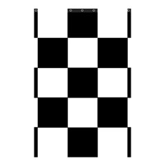 Grid Domino Bank And Black Shower Curtain 48  X 72  (small)  by Nexatart