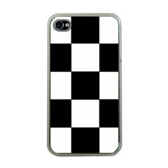 Grid Domino Bank And Black Apple Iphone 4 Case (clear)