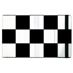 Grid Domino Bank And Black Apple Ipad 2 Flip Case by Nexatart