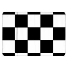 Grid Domino Bank And Black Samsung Galaxy Tab 8 9  P7300 Flip Case by Nexatart