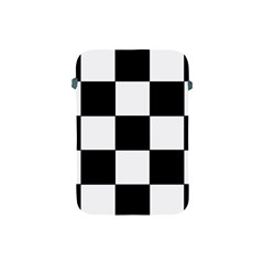 Grid Domino Bank And Black Apple Ipad Mini Protective Soft Cases by Nexatart
