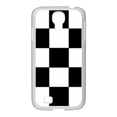 Grid Domino Bank And Black Samsung Galaxy S4 I9500/ I9505 Case (white) by Nexatart