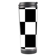 Grid Domino Bank And Black Travel Tumbler