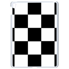 Grid Domino Bank And Black Apple Ipad Pro 9 7   White Seamless Case