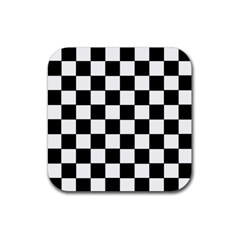 Grid Domino Bank And Black Rubber Square Coaster (4 Pack)  by Nexatart