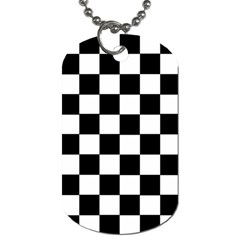 Grid Domino Bank And Black Dog Tag (two Sides)