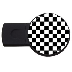 Grid Domino Bank And Black Usb Flash Drive Round (2 Gb)