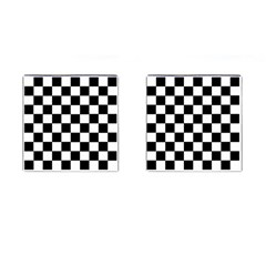 Grid Domino Bank And Black Cufflinks (square)