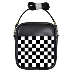Grid Domino Bank And Black Girls Sling Bags