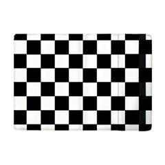 Grid Domino Bank And Black Apple Ipad Mini Flip Case