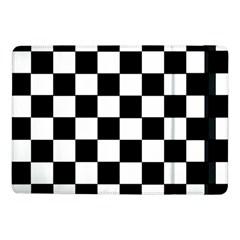 Grid Domino Bank And Black Samsung Galaxy Tab Pro 10 1  Flip Case