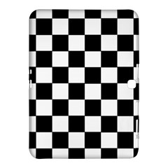 Grid Domino Bank And Black Samsung Galaxy Tab 4 (10 1 ) Hardshell Case  by Nexatart