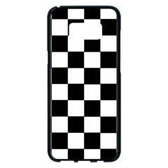 Grid Domino Bank And Black Samsung Galaxy S8 Plus Black Seamless Case