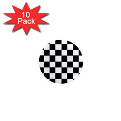 Grid Domino Bank And Black 1  Mini Magnet (10 Pack)  by Nexatart