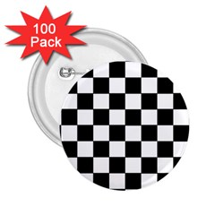 Grid Domino Bank And Black 2 25  Buttons (100 Pack)