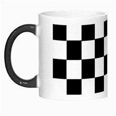 Grid Domino Bank And Black Morph Mugs by Nexatart