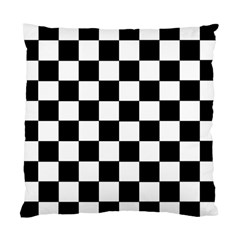 Grid Domino Bank And Black Standard Cushion Case (two Sides)