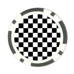 Grid Domino Bank And Black Poker Chip Card Guard (10 Pack)