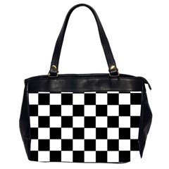 Grid Domino Bank And Black Office Handbags (2 Sides)  by Nexatart