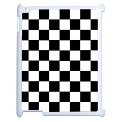 Grid Domino Bank And Black Apple Ipad 2 Case (white) by Nexatart