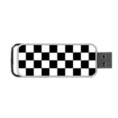 Grid Domino Bank And Black Portable Usb Flash (one Side)