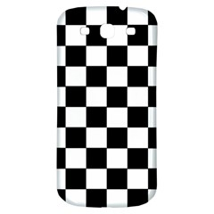 Grid Domino Bank And Black Samsung Galaxy S3 S Iii Classic Hardshell Back Case