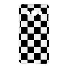 Grid Domino Bank And Black Samsung Galaxy A5 Hardshell Case
