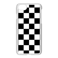 Grid Domino Bank And Black Apple Iphone 7 Seamless Case (white) by Nexatart