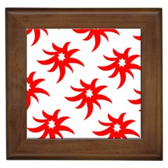 Star Figure Form Pattern Structure Framed Tiles by Nexatart