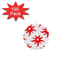 Star Figure Form Pattern Structure 1  Mini Buttons (100 Pack)