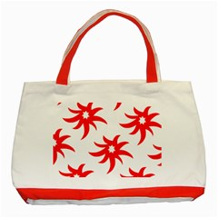 Star Figure Form Pattern Structure Classic Tote Bag (red)