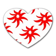Star Figure Form Pattern Structure Heart Mousepads