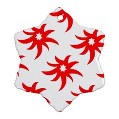 Star Figure Form Pattern Structure Snowflake Ornament (two Sides)