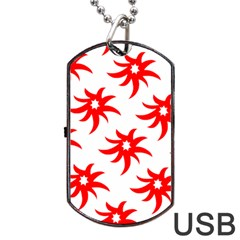 Star Figure Form Pattern Structure Dog Tag Usb Flash (one Side) by Nexatart