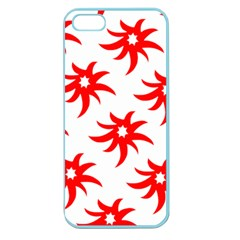 Star Figure Form Pattern Structure Apple Seamless Iphone 5 Case (color) by Nexatart